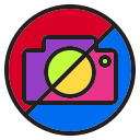 camera, cinema, film, holiday, image, no, picture icon