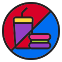 dessert, food, holiday, meal, no, vacation icon