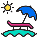 beach, decoration, holiday, sea, summer, water icon