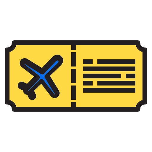 airplane, decoration, holiday, party, ticket, xmas icon