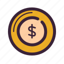 bank, coin, currency, dollar, financial, payment icon