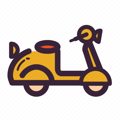 bike, delivery, motorcycle, scooter, transport, vespa icon