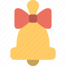 bell, bow, celebration & holidays icon