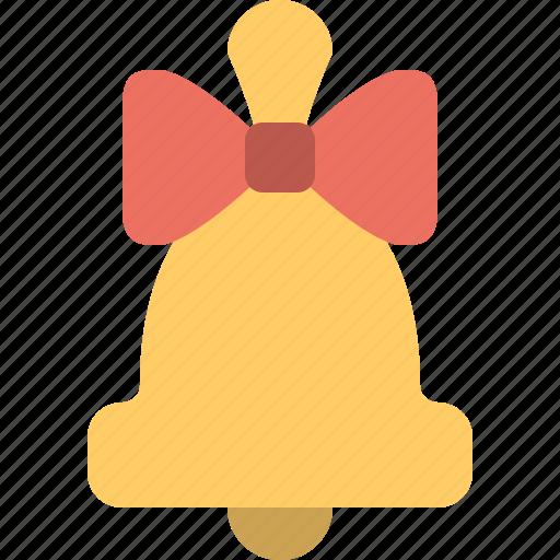 bell, bow, celebration & holidays icon