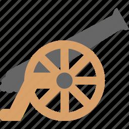 cannon, fire, war, warm icon