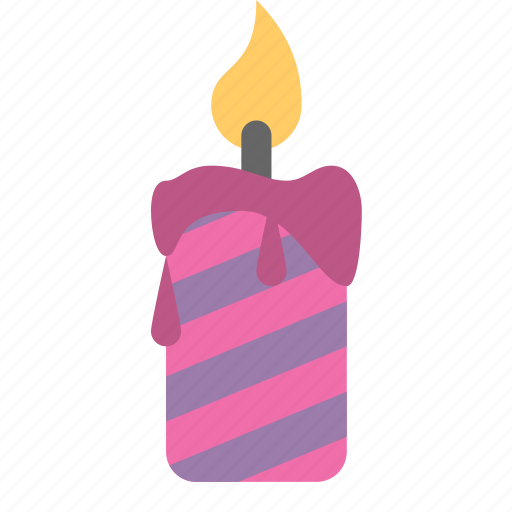 birthday, candle, fire icon