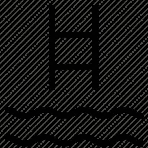 ladder, pool, pool ladder, sea ladder, swimming icon