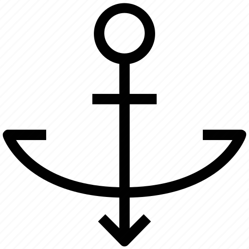anchor, boat anchor, navigational tool, navy, sailing, ship icon