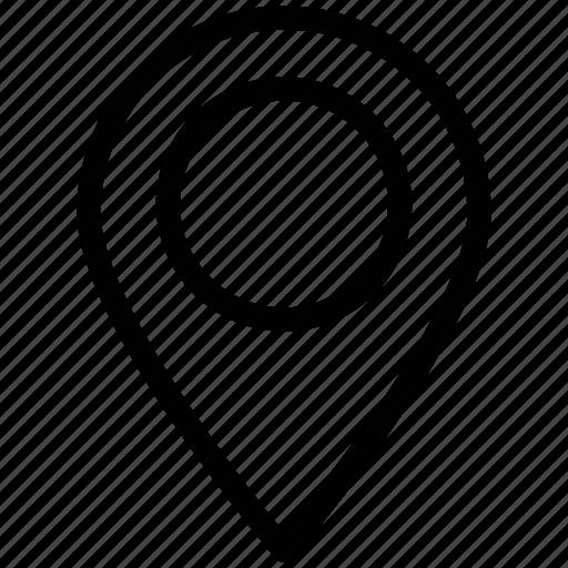 gps, location mark, location pin, location pointer, map, navigation icon