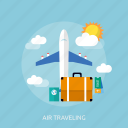 air, holiday, recreations, traveling icon