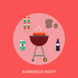 barberque, holiday, party, recreations icon