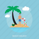 beach, holiday, recreations icon