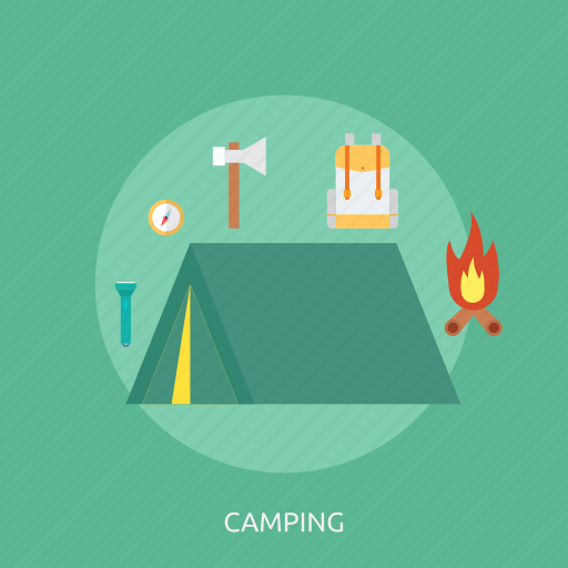 camping, holiday, mountain, recreations, travel, vacation icon