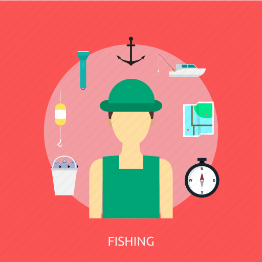 bait, fish, fishing, holiday, recreations, water icon