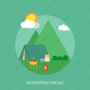 hiking, holiday, mountain, recreations icon