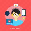 holiday, music, playing, recreations icon