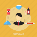 holiday, interior, luxury, recreations, restaurant, table icon