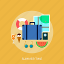 holiday, recreations, summer, time icon