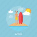 beach, fun, holiday, ocean, recreations, surfer, surfing
