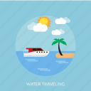 holiday, recreations, traveling, water icon