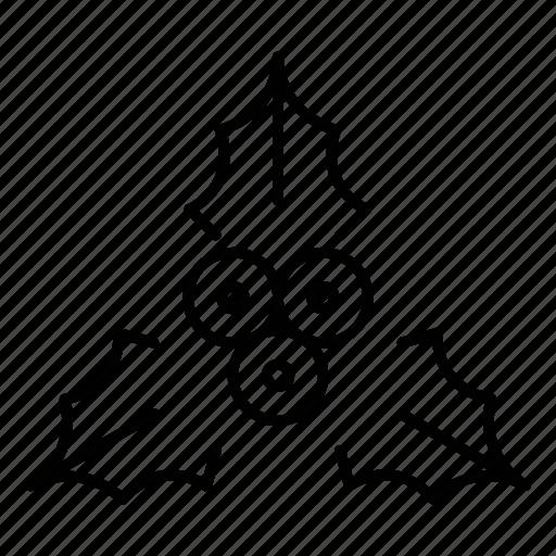 christmas, holiday, mistletoe, noel, winter icon