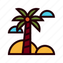 holiday, palm, beach, summer, celebration, sea, vacation
