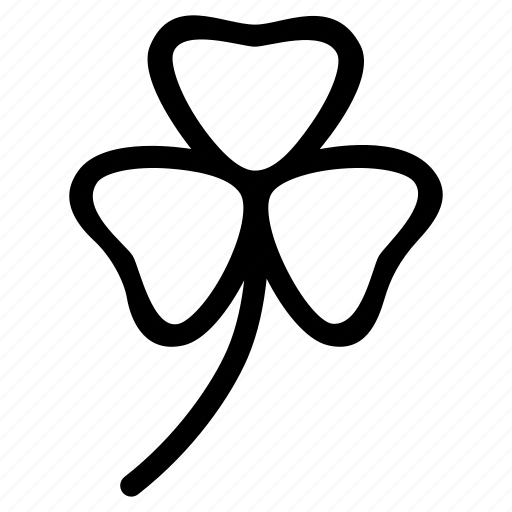 charm, clover, leaf, lucky, plant, three icon