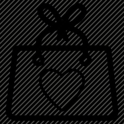 bag, gift, handbag, package, present icon