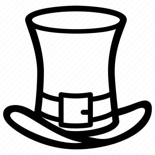 buckle, cap, clover, hat, leprechaun icon