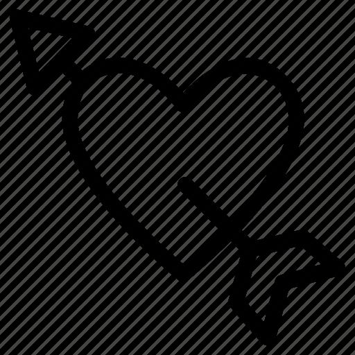 cupid, day, heart, love, saint, valentine icon