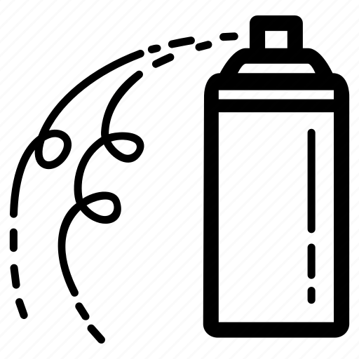 bottle, can, carnival, celebration, party, spray, spraying icon