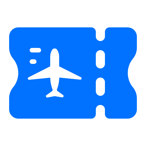 airplane, holiday, ticket, travel icon
