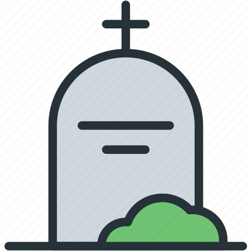 crypt, grave, holidays icon