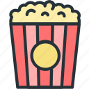 holidays, popcorn icon