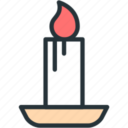 candle, holidays icon