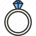 gift, holidays, luxury, ring icon