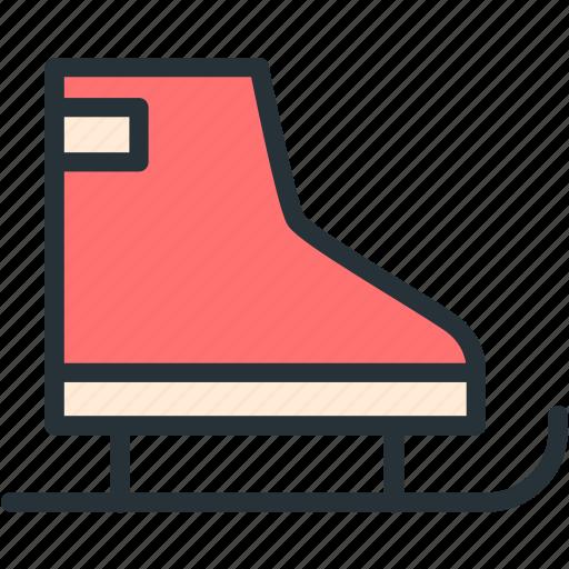 holidays, skates icon