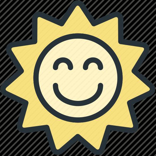 holidays, sun, sunny icon
