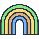 holidays, rainbow icon