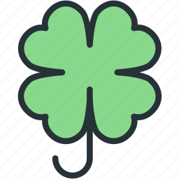 clover, holidays icon