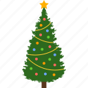 christmas, color, decoration, holiday, ornaments, tree, xmas icon
