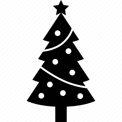 christmas, decoration, holiday, ornaments, tinsel, tree, xmas icon