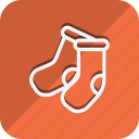 celebration, christmas, haloween, holiday, socks, winter, xmas icon