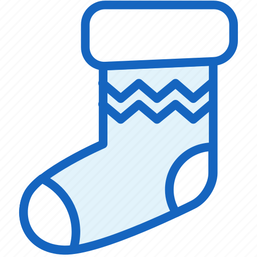 christmas, holidays, sock icon