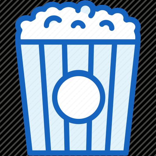 holidays, popcorn icon