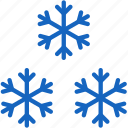 holidays, snowflakes icon