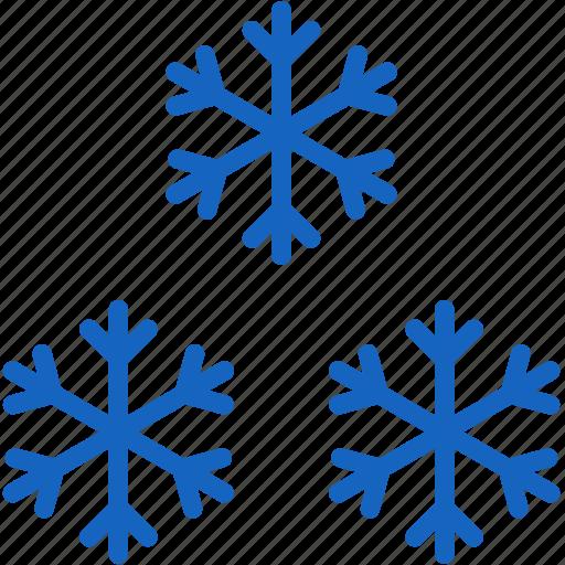 holidays, snowflakes icon