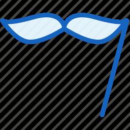 holidays, moustaches icon