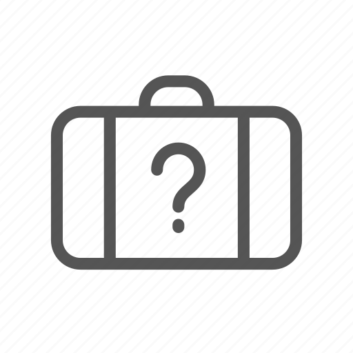 baggage, found, lost, luggage, secret, suitcase, surprise icon