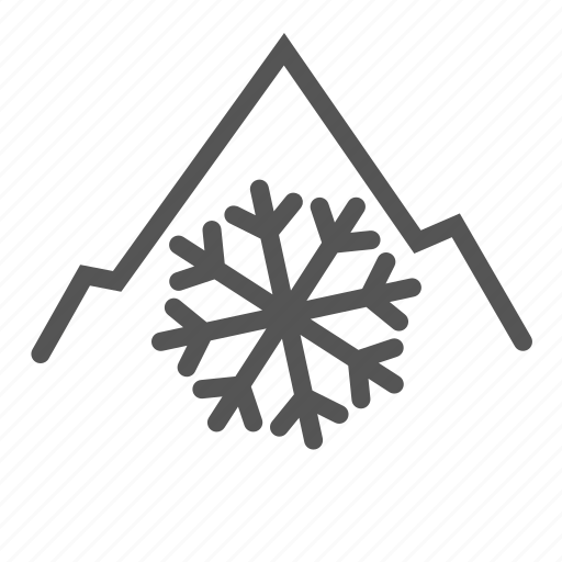 cold, freezing, ice, low, mountain, temperature, winter icon